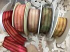 """VINTAGE 1"""" FRENCH STRIPE OMBRE RIBBON 1yd Made in France"""