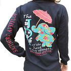 Southern Attitude Joy Of The Lord Elephant & Umbrella Long Sleeve Shirt