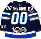 WINNIPEG JETS ANY NAME  NUMBER ADIDAS ADIZERO HOME JERSEY AUTHENTIC PRO 100TH