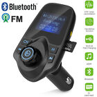 Hands-free Bluetooth Car Kit FM Transmitter LCD TF Audio MP3 Player USB Charger