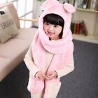 Children Christmas Warm Scarf Gloves Hat Little Bunny Embroidery Neck Cover