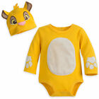 Disney Authentic Lion King Simba Baby Costume & Hat Boys 0 3