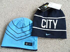 MANCHESTER CITY NIKE BEANIE Hat football soccer calcio Beanie TAGS Skiing Winter