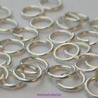 50, 200 or 400 x Silver Plated Alloy Single Loop Open Jumprings Jump Rings