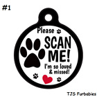 PLEASE SCN ME IM SO LOVED!-Personalized Pet ID Tag for Dog & Cat Collars