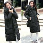 Winter Women's Real Fox Fur Collar Duck Down Thicken Warm Parka Hooded Long Coat