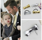 Fashion Kids Baby Girl Hair Clips Scrunchie Lovely Gold Silver Bowknot Hair Clis