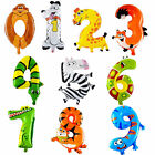 ANIMALS NUMBER FOIL BALLOONS KIDS PARTY BIRTHDAY WEDDING DECOR BALLON DELICATE