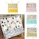 Baby Bed Hanging Storage Bag Cotton Newborn Crib Organizer Toy Diaper Pocket Bag