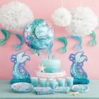 MERMAID Birthday Party Range - Tableware, Balloons, Decorations or Party Game