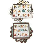 12 Days Of Christmas Either 4 x Table Mats Or 4 X Coasters Place Mats Boxed