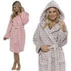 Heart Embossed Womens Thick Fleece Dressing Gown Size 8 10 12 14 16 18 20 22