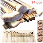 12/18/24PCS Professional Cosmetic Eyebrow Shadow Makeup Brush Set Kit+Pouch Bag