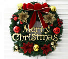Внешний вид - New Christmas Wreath Home Merry Garland Window Door Decorations Bowknot Ornament