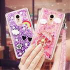 Sticker Dynamic Liquid Glitter Quicksand Shockprof Soft Cover Lanyard For Xiaomi