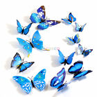 12 pcs 3D Butterfly Wall Stickers Art Decal Home Room Decorations Decor Kids G/S
