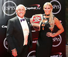 CHARLOTTE FLAIR 07 WITH RICK FLAIR (WRESTLING DIVA)  MUGS AND PHOTO PRINTS