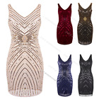 Flapper 1920's Dress Great Gatsby Vintage Ladies 20s Party Sequin Fancy Costume