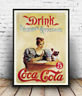 Coca Cola (Drink) :  Old Magazine Soft drink Advertising : poster reproduction £3.99  on eBay