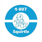 Pokemon Illustration #007 Squirtle Vinyl Decal Car Door Window Laptop Sticker $7.11 USD on eBay