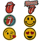 Big Tongue Smile Face Embroidery Sew Iron-On Patch Badge Fabric Hat Bag Applique