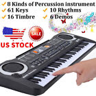 61 Keys Children Musical Instrument Electronic Piano Keyboard 16 Timbre LOT GT
