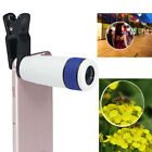 UK 12X HD Zoom Optical Monocular Telescope Clip Lens w/ Tripod For Mobile Phone