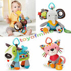 baby multifunction stroller car clip lathe hanging Rattle Bell Lion plush toys