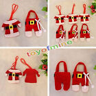 6 Christmas Table Decor Cutlery Covers Ornament Dinnerware Clothes Xmas Bag Gift