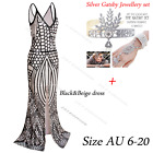 Long Slit Prom Dresses 1920s Bridesmaid Mermaid Evening Gown Formal Party Dress