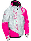 Castle X Youth Kid's Stance Hooded Snowmobile Winter Snow Jacket Coat Grey Pink