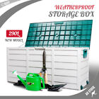 NEW 290L Outdoor Storage Box Weatherproof Garden Tools Toy Shed Garage Organiser