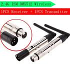 400M 2.4G DMX512 Wireless Receiver/Transmitter Rechargeable Stage Light US I7A3