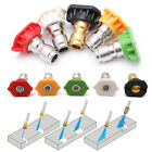 5PCS/Set HIGH PRESSURE Quick Connect Power Washer Spray Nozzle Tips Kit STOCK US