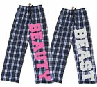 BEAUTY & BEAST Couples Fun Pajama Pants for Him and Her