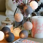 cotton balls - 3M 20 LED Colorful Cotton Ball LED String Christmas Wedding Party Fairy Lights