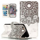 Mandala Rose Wallet Leather Flip Case Cover For iPhone 5 5S SE 6 6S 7 8 Plus XS