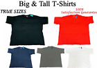 Big and Tall T-Shirts - Casual TRUE SIZE Comfort Tees - Size 6XL 7XL