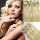 """14""""-22"""" High Quality Clip In Pale Blonde 100% Remy Human Hair Extensions cheap"""