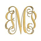 Внешний вид - Wooden Three Letter Monogram - Large or Small, Unfinished, Great For Weddings!