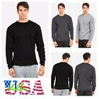 Men Long  Sleeve Thermal  Shirts Casual Crew Neck Waffle Winter Cotton UnderWear