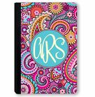 personalized leather ipad mini case - Monogrammed iPad Case for iPad Mini iPad Air, Pro Personalized Pink Paisley