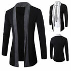 Stylish Men Fashion Knitted Cardigan Jacket Casual Long Sleeve Sweater Coat Tops