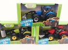 "COUNTRY LIFE FARM TRACTOR Large 10"" Friction Vehicle with digger Kids TOY New"