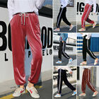 Winter Women's Casual loose Stretchy Waist lace-up Pleuche Sport Pants 2018 Sale