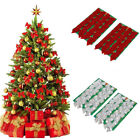 6cm Multicolor 24 Bows Christmas Trees Decorating Party Gift with Gold Tie