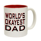 Funny Mugs - Worlds Okayest Dad - Joke Family NOVELTY MUG secret santa