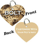Camo Custom Double Sided Pet Id Tag for Dogs & Cats Personalized for your Pet