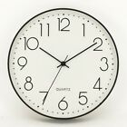 Modern Concise Battery May Time 12 Inch Fashion Wall Clock Room Home Decoration