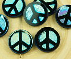 4pcs Ab Full Peace Sign Love Tree Of Life Charm Pendant Coin Flat Round Table Cu